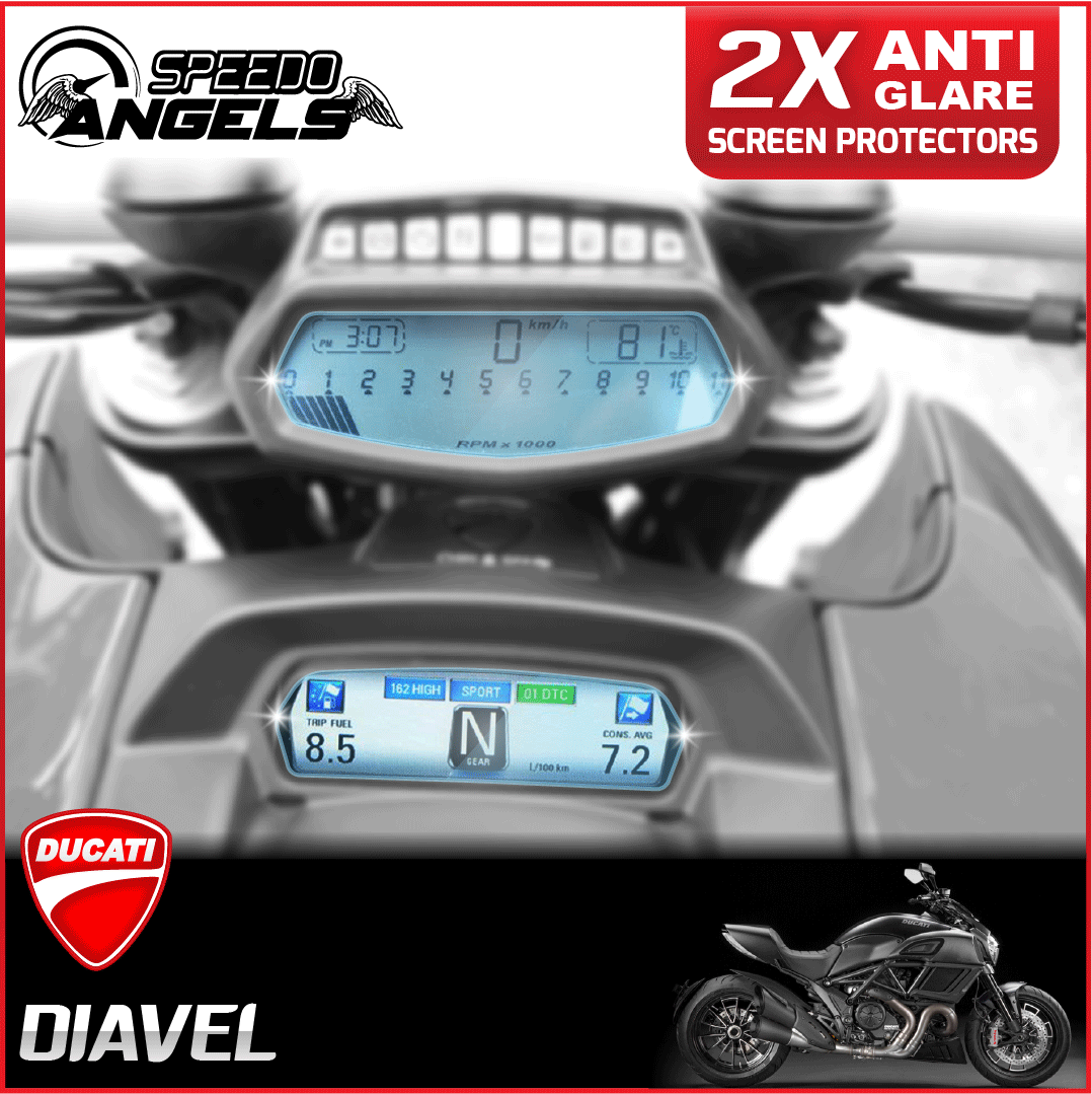 Ducati Diavel instrument cluster dashboard screen protector protection film kit