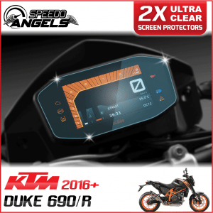 KTM 690 Duke/R instrument cluster dashboard screen protector protection film kit