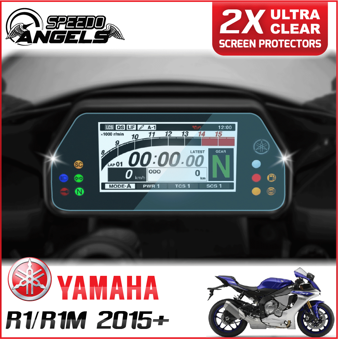 Details About 2 X Yamaha R1 R1m 2015 Dashboard Screen Protector Ultra Clear