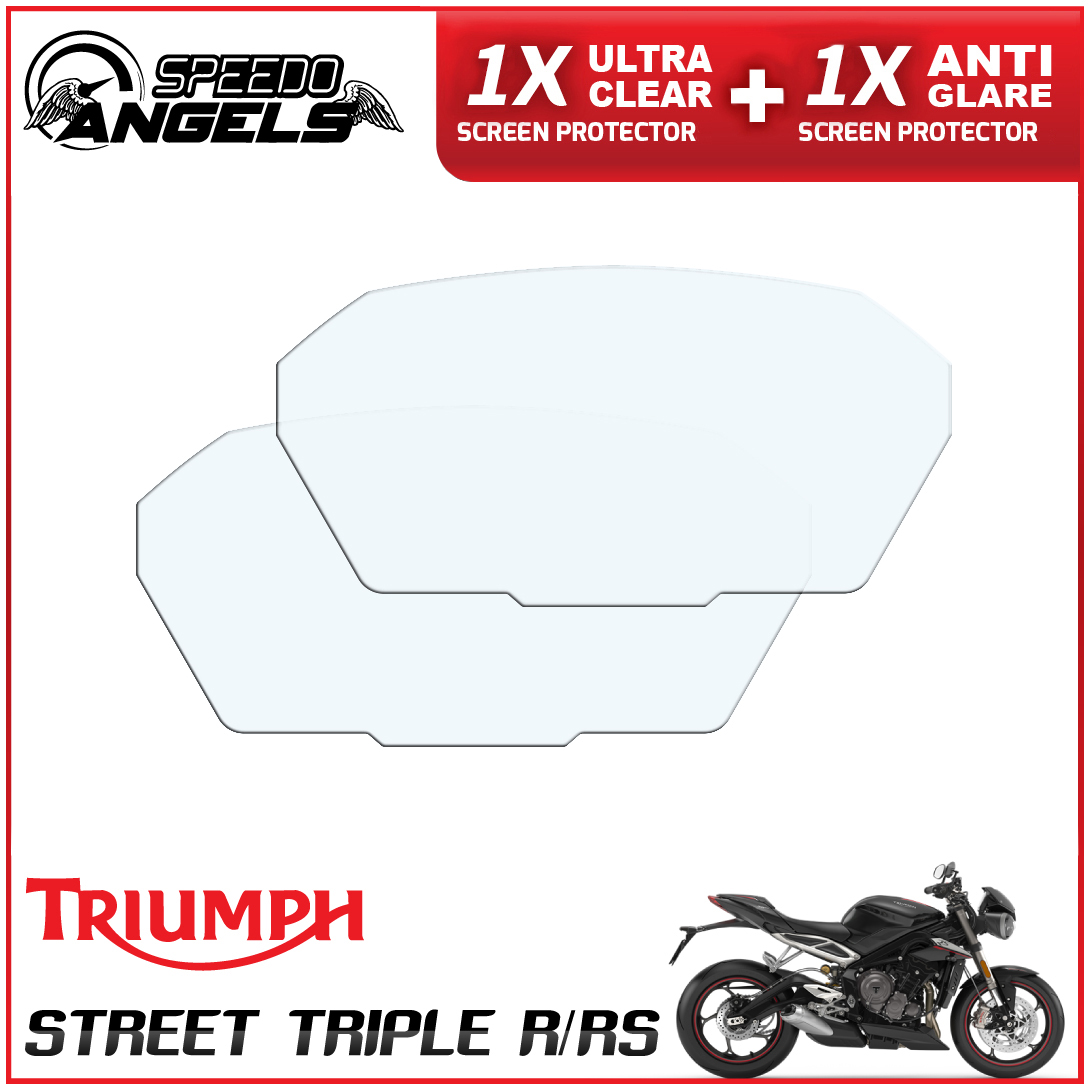 Dashboard screen protector 1 x Anti Glare /& 1 x Ultra Clear Triumph Street Triple R//RS 2017
