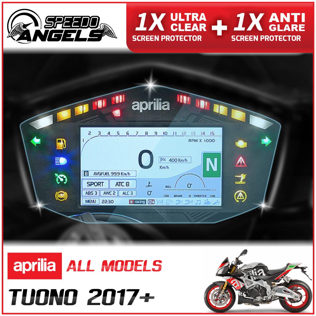 2 x APRILIA TUONO  V4 1100 2017 Dashboard Screen Protector Anti-Glare