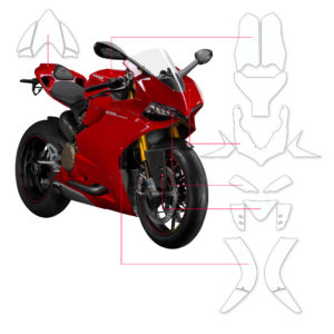 BLOQ Paint Protection Kit – DUCATI PANIGALE 1199S 2012-2014