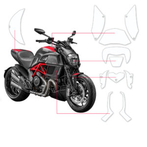 BLOQ Paint Protection Kit – DUCATI DIAVEL  2014-2016