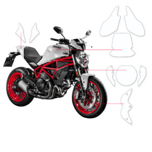 BLOQ Paint Protection Kit – DUCATI MONSTER  2014-2017