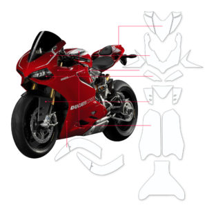 BLOQ Paint Protection Kit – DUCATI PANIGALE 1199R 2015-2017