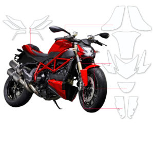 BLOQ Paint Protection Kit – DUCATI STREETFIGHTER 848 2015-