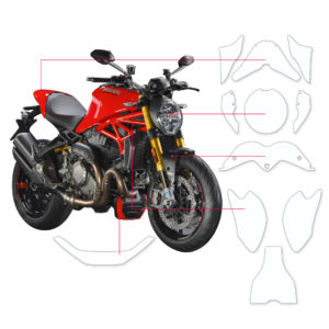 BLOQ Paint Protection Kit – DUCATI MONSTER 1200s 2018-
