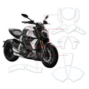 BLOQ Paint Protection Kit – DUCATI DIAVEL 1260S 2019-
