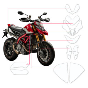 BLOQ Paint Protection Kit – DUCATI HYPERMOTARD 950,SP 2019-