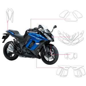 BLOQ Paint Protection Kit – KAWASAKI Z1000 SX 2014-2016