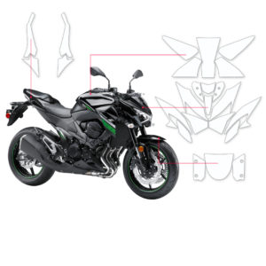 BLOQ Paint Protection Kit – KAWASAKI Z800  2014-