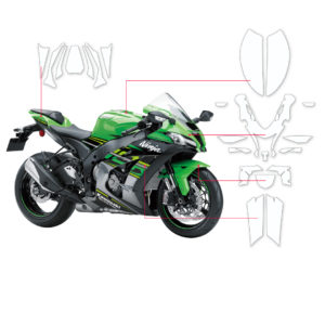 BLOQ Paint Protection Kit – KAWASAKI NINJA ZX-10R,ZX-10RR 2018-
