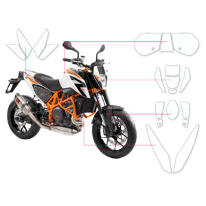 BLOQ Paint Protection Kit – KTM DUKE 690R 2015-