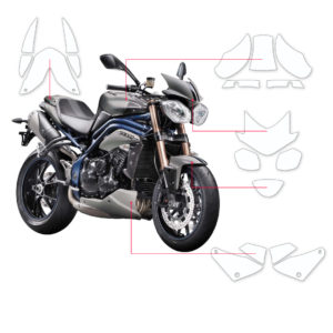 BLOQ Paint Protection Kit – TRIUMPH SPEED TRIPLE  2014-2017