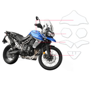 BLOQ Paint Protection Kit – TRIUMPH TIGER XR 800 2015-2017