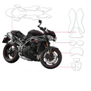 BLOQ Paint Protection Kit – TRIUMPH SPEED TRIPLE S 2018-