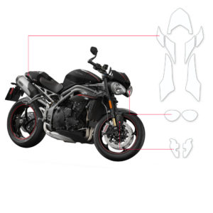 BLOQ Paint Protection Kit – TRIUMPH SPEED TRIPLE RS 2018-
