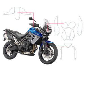 BLOQ Paint Protection Kit – TRIUMPH TIGER 800 XR,XRT,Xrx,XRx Low 2018-