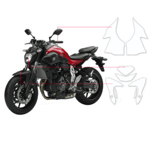 BLOQ Paint Protection Kit – YAMAHA MT07  2014-
