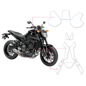 BLOQ Paint Protection Kit – YAMAHA MT09  2014-2017