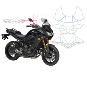 BLOQ Paint Protection Kit – YAMAHA MT09 TRACER 2015-2018