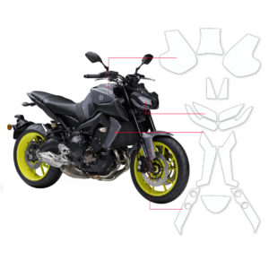 BLOQ Paint Protection Kit – YAMAHA MT09  2017-2018