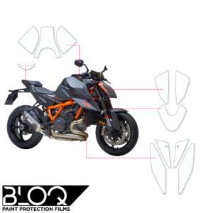 BLOQ Paint Protection Kit – KTM SUPERDUKE R 2020-