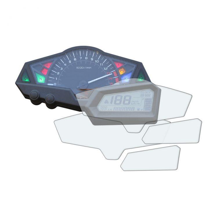 Kawasaki Z300 dashboard screen protector