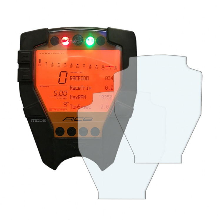 KTM RC8 / RC8R dashboard screen protector
