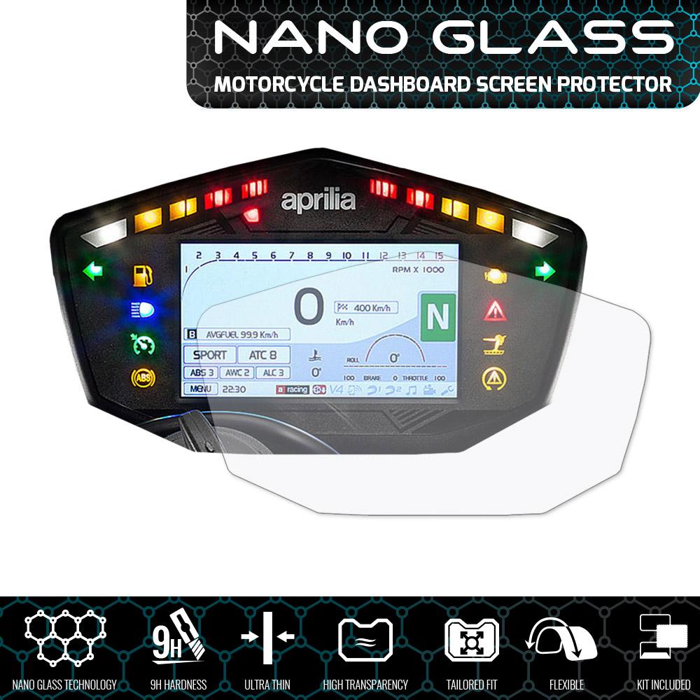 1x Ultra-Clear /& 1x Anti-Glare Aprilia Dorsoduro 900 Dashboard Screen Protector
