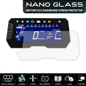 2016+ 2 x Ultra Clear Speedo Angels SAHO8NG2 Nano Glass Screen Protector for Honda NC750X//NC750S//Integra
