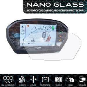 Triumph Speed Triple (2018+) / Street Triple (2017+) / Tiger 800, 1200 (2018+) NANO GLASS Screen Protector
