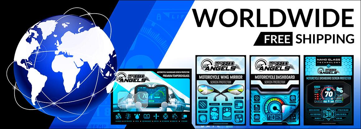 2020- KAWASAKI Z H2 NANO GLASS 9H Dashboard Screen Protector x 2