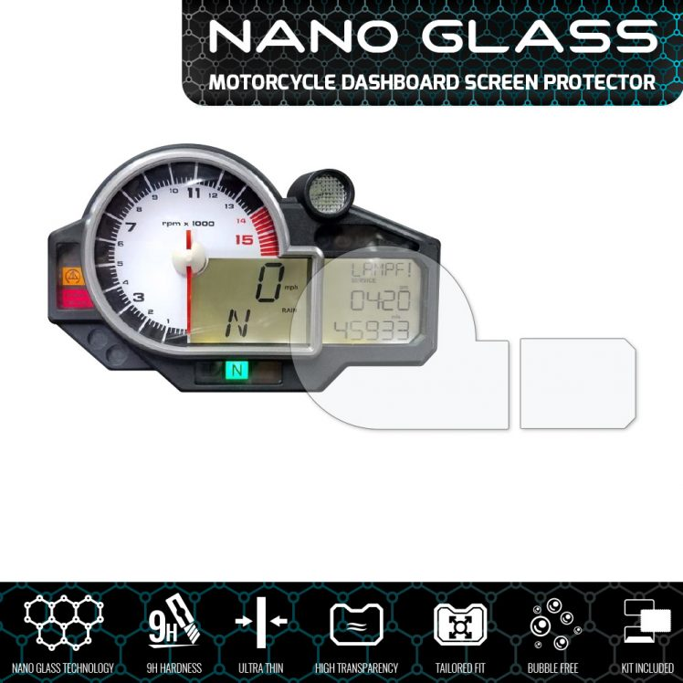 BMW S1000RR 2009-2014 Nano Glass Screen Protector