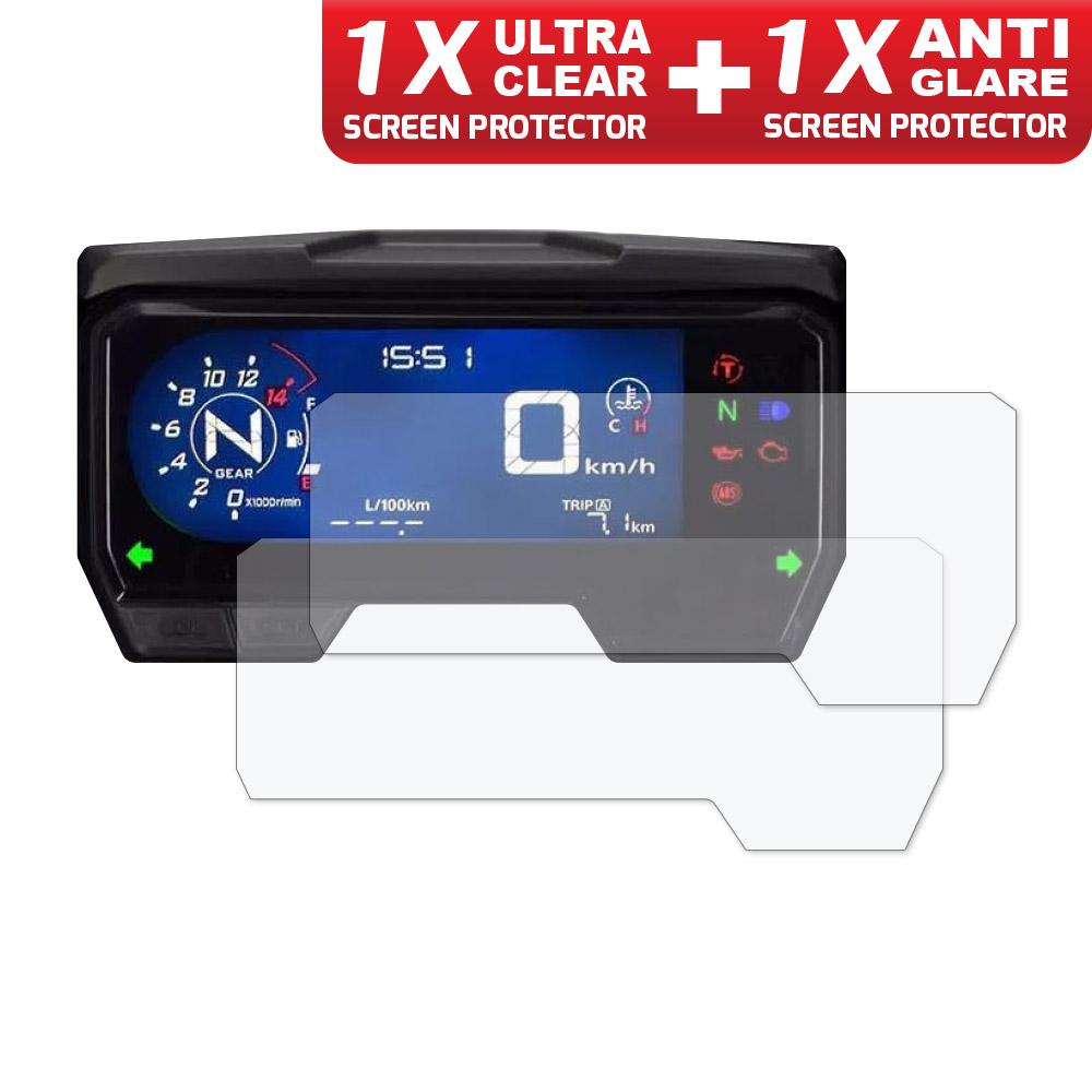 Screen Protector 1 x Ultra Clear /& 1 x Anti Glare DUCATI Scrambler 1100 2018
