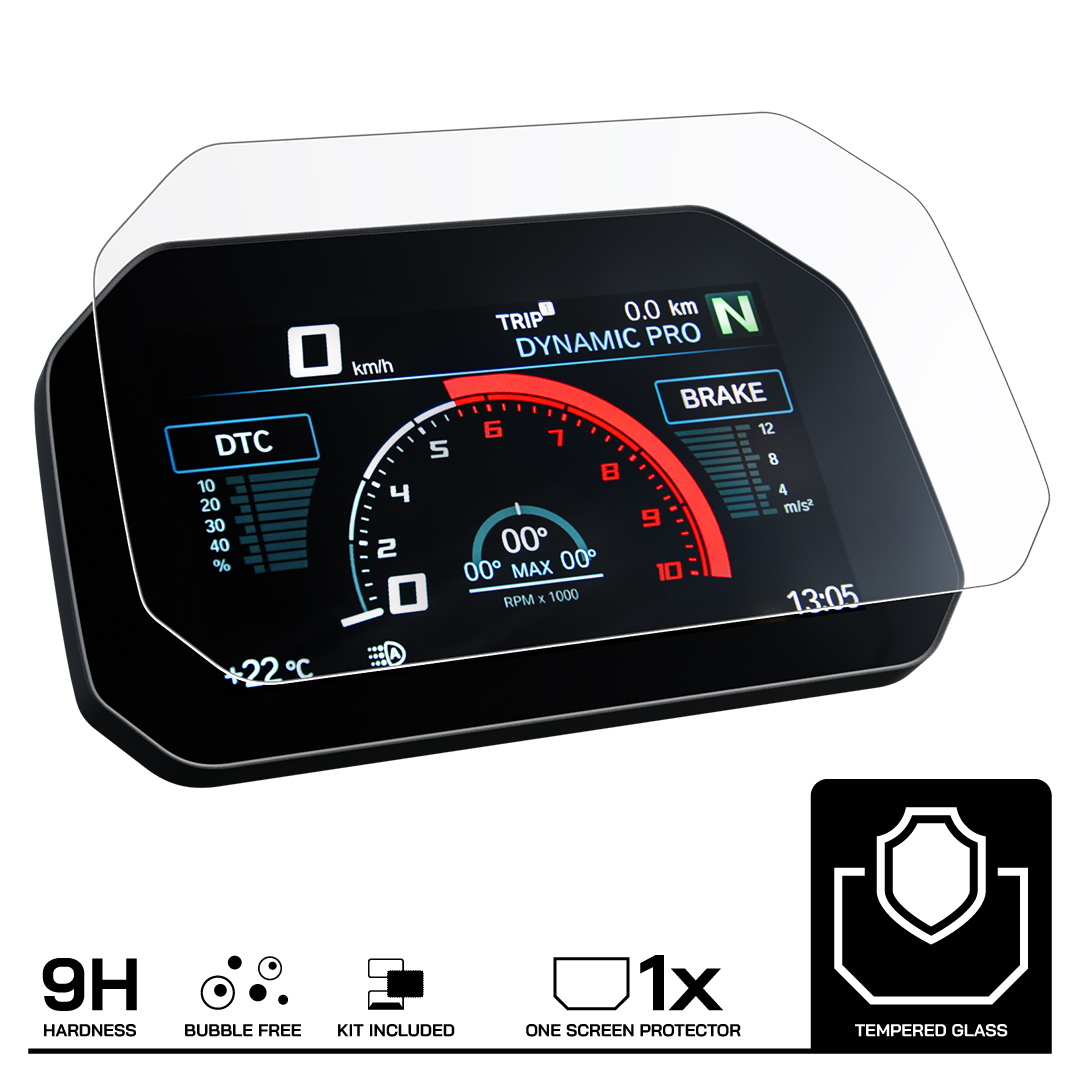Speedo Angels SABM1TGAG Connectivity Tempered Glass Dashboard Screen Protector for BMW C 400 Gt 2019+ 1 x Anti-Glare